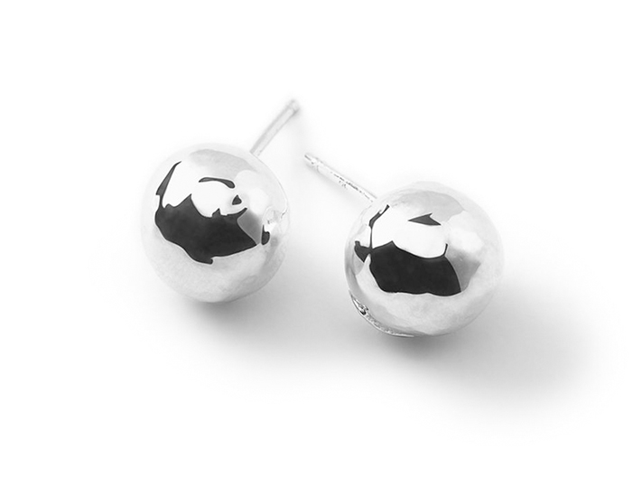 IPPOLITA Sterling Silver Glamazon Hammered Ball Stud.