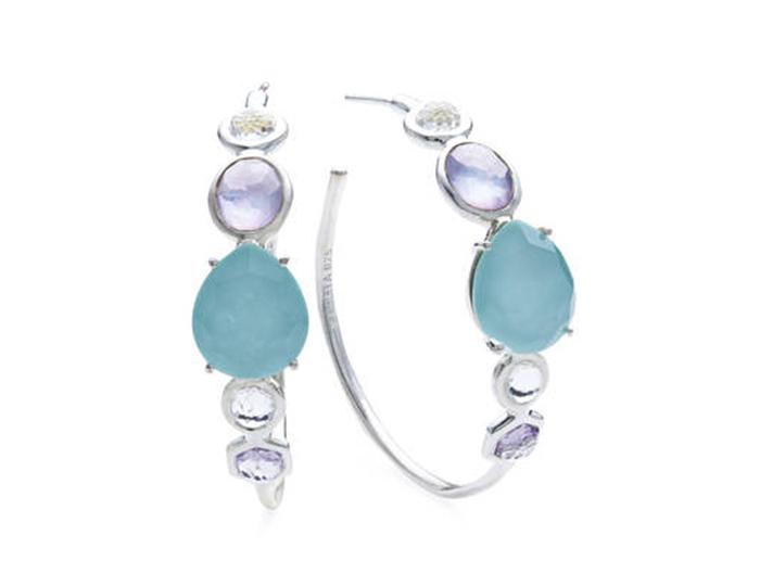 IPPOLITA Sterling Silver Rock Candy Multi Stone Earrings in Liolet.