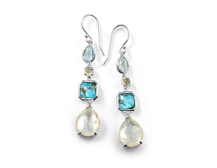 IPPOLITA Sterling Silver Rock Candy 4 Stone Linear Earrings in Harmony.