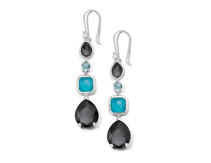 Ippolita Rock Candy Collection Sterling Silver Earrings in Maritime.