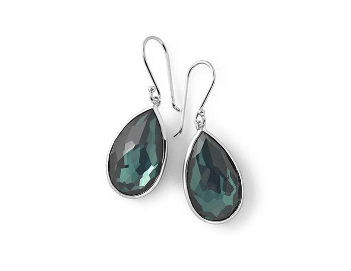 IPPOLITA Sterling Silver Rock Candy Medium Pear Wire Earrings in Kelly.