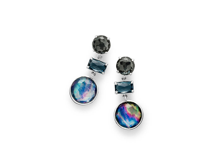 IPPOLITA Sterling Silver Rock Candy Earrings in Eclipse.