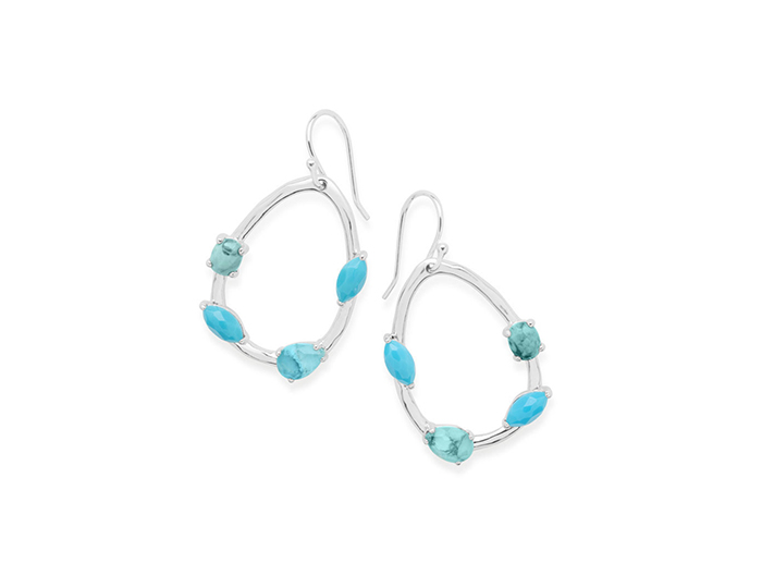 IPPOLITA Sterling Silver Rock Candy Mini Pear Earrings in Turqam.