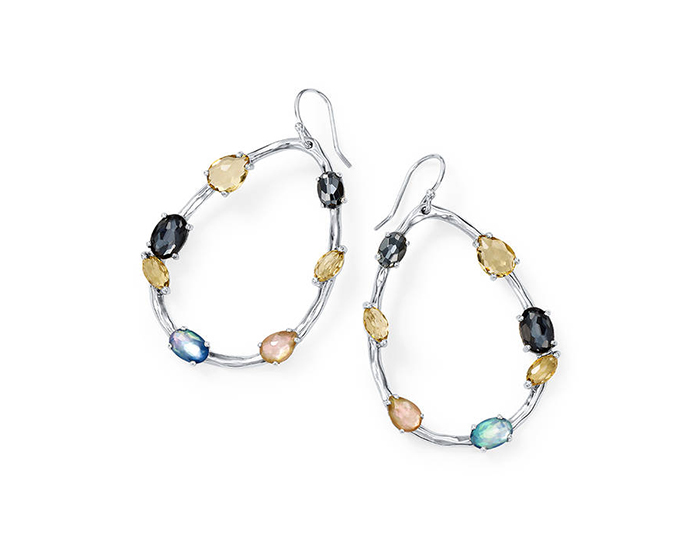 IPPOLITA Sterling Silver Rock Candy Mixed Stone and Metal Earrings in Positano.