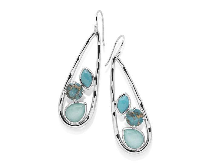 IPPOLITA Sterling Silver Rock Candy Earrings in Turqam.