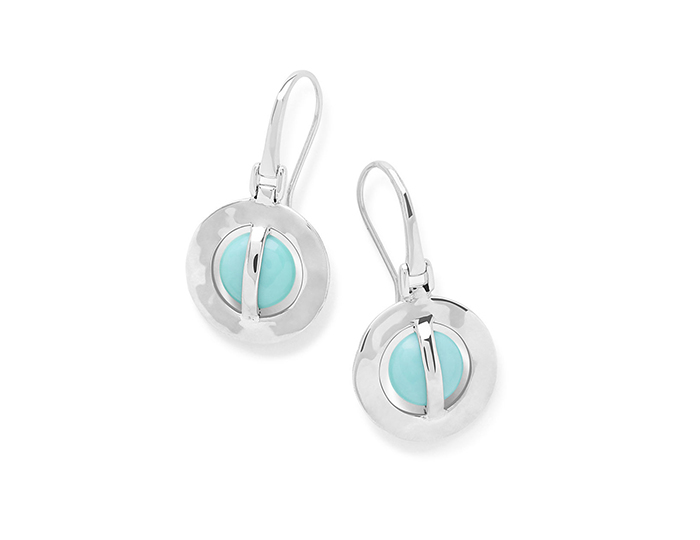 IPPOLITA Sterling Silver Senso Open Disc Earrings in Turquoise.