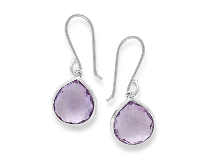 IPPOLITA Sterling Silver Rock Candy Teardrop Earrings in Amethyst.