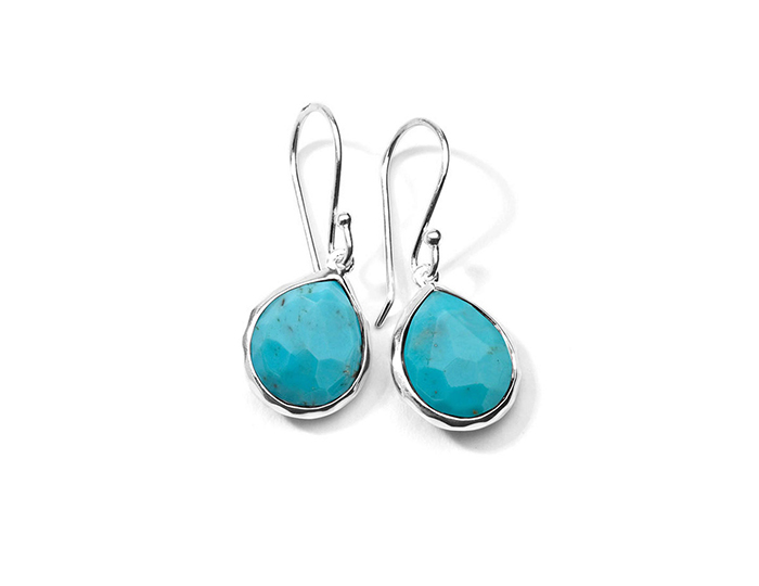 IPPOLITA Sterling Silver Rock Candy Teeny Teardrop Earrings in Turquoise.