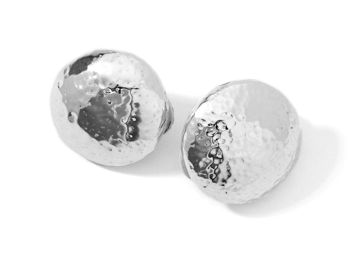 IPPOLITA Sterling Silver Glamazon Button Clip Earrings.