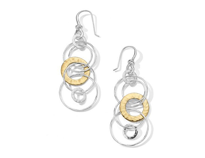 Ippolita Chimera Collection Earrings in Sterling Silver and 18k Yellow gold.