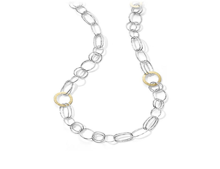Ippolita Chimera collection necklace in 18k yellow gold and sterling silver.