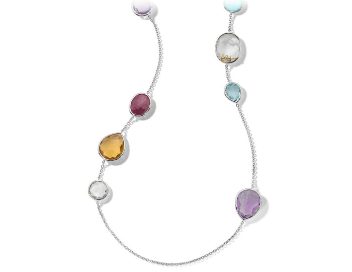 Ippolita Rock Candy Collection Sterling Silver Multi-Stone Necklace.