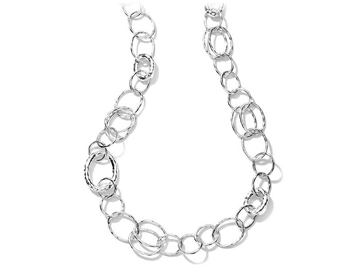 "IPPOLITA Sterling Silver Glamazon Bastile Element Link Chain 36""."