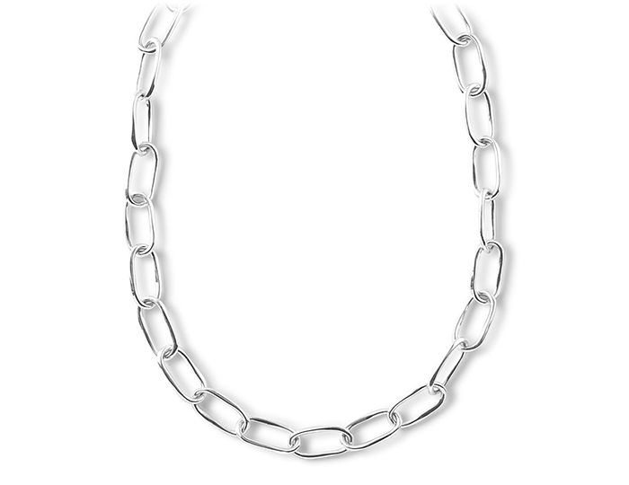 "IPPOLITA Sterling Silver Glamazon Elongated Oval Link Toggle Necklace 18""."