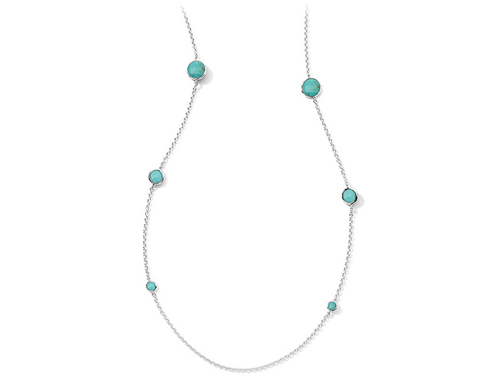 "IPPOLITA Sterling Silver Rock Candy Lollipop Necklace in Turquoise 37""."