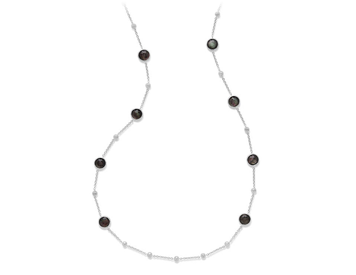 IPPOLITA Sterling Silver Rock Candy Necklace in Black Shell.