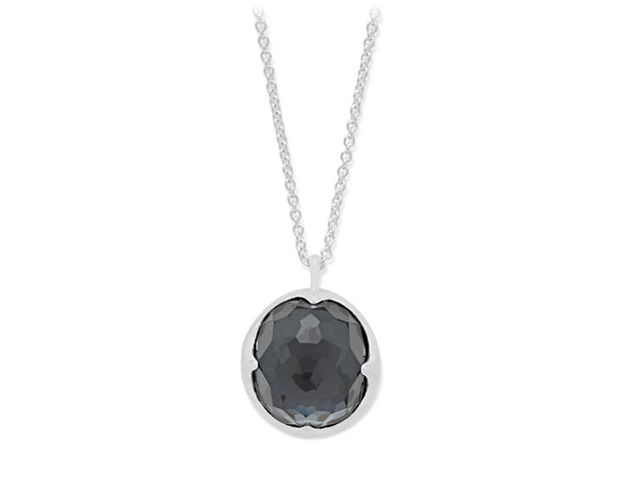 IPPOLITA Sterling Silver Rock Candy Pendant Necklace in Hematite