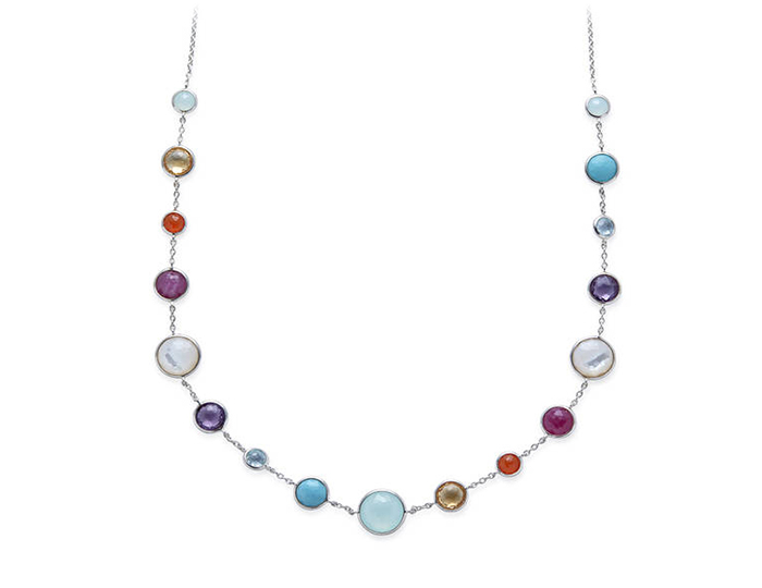 IPPOLITA Sterling Silver Lollipop Mixed Stone Necklace.