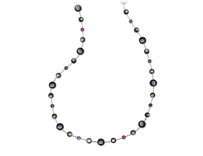 IPPOLITA Sterling Silver Rock Candy Mixed Stone Necklace in Noir.