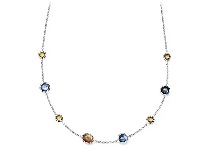 IPPOLITA Sterling Silver Rock Candy Multi Color Necklace in Positano.