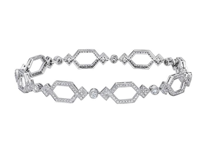 Ivanka Trump Crossover Collection diamond bracelet in 18k white gold.