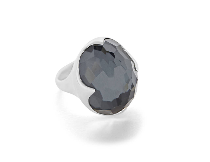 IPPOLITA Rock Candy Sterling Silver Hematite Ring.