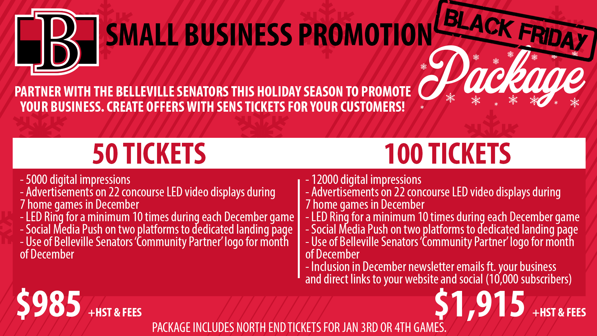 Business Package Holiday Black Friday