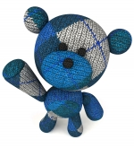 Stuffed Blue Teddy Bear