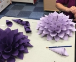 Teens & Adults Make a Paper Dahlia Wall Hanging