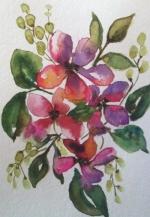 Adult watercolor class with Lauren Despins
