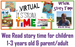 VIRTUAL Wee Read Story Time for children 1-3 years old