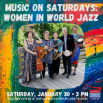 Belmont Library presents Music on Saturdays on January 30, 2021