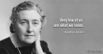 Agatha Christie image and quote