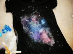 DIY Galaxy t-shirt- for teens