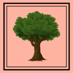 Tree on a salmon background