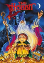 Image depicts the cover of the 1977 animated movie The Hobbit