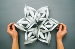 3D paper snowflake workshop
