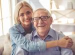 senior man and granddaughter