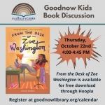 Sudbury CARES: Goodnow Kids Book Discussion, Grades 4 & 5 - ONLINE