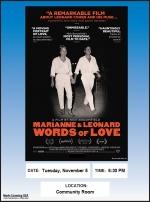 First Tuesday Movie Night/Marianne & Leonard: Words of Love