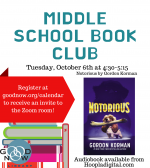Middle School Book Club ONLINE