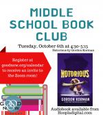Middle School Book Club ONLINE