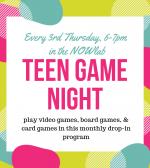 Teen Game Night, Grades 6+