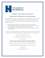 Informational Meeting for Volunteering for Hospice