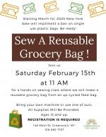 Sew a  Reusable  Grocery Bag