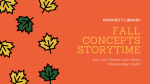 Preschool Fall Concepts Storytime