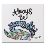 """Craft Kits to Go!  """"Always Be Yourself"""" Paint Posters!"""