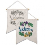 Craft Kits to Go!  Velvet Art Welcome Banners!