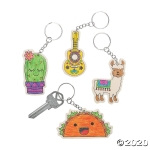 Craft Kits to Go: Color Your Own Fun Fiesta Keychain!