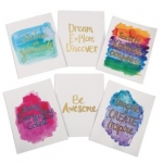 Craft Kits to Go for Tweens! Watercolor Gold Resist Art Prints!